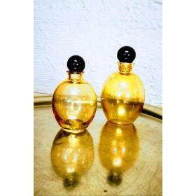 Duo de petits flacons ambrés