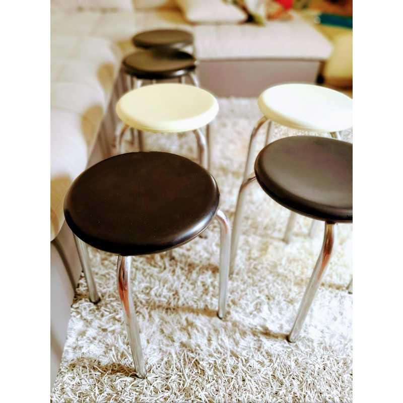 Tabouret années 60 style RENÉ HERBST | Old'Upcycling