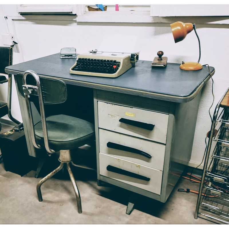 Bureau industriel en métal | Old'Upcycling