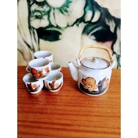 Service à thé vintage en grès