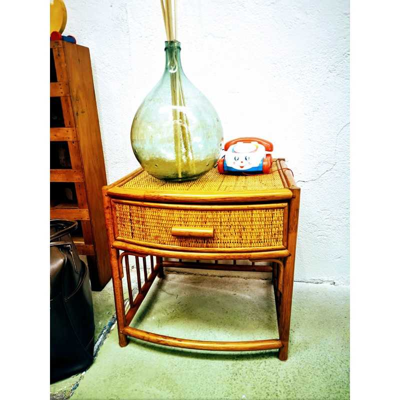 Chevet en rotin vintage   Old'Upcycling