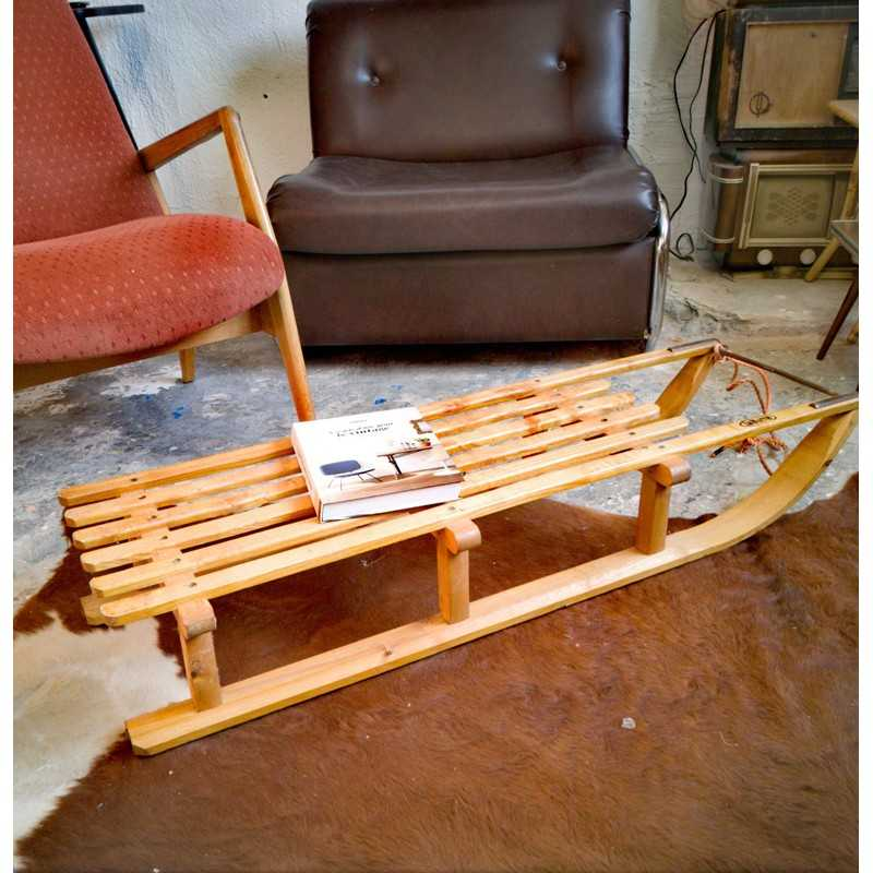 Ancienne luge La Hutte | Old'Upcycling