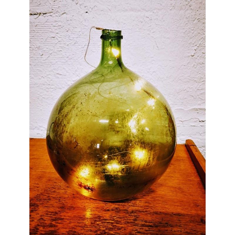 Dame Jeanne ronde 10 litres en verre soufflé | Old'Upcycling