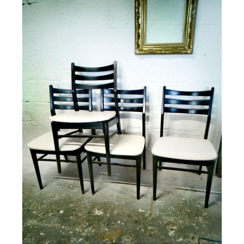 Lot de 4 chaises vintage design scandinave | Old'Upcycling