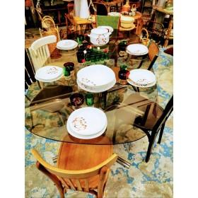 Table en verre fumé vintage