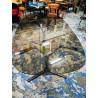 Table en verre fumé vintage | Old'Upcycling