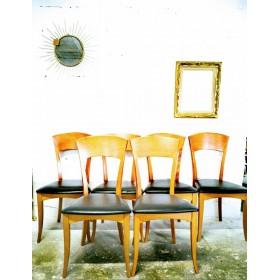 Série de six  de 6 chaises...