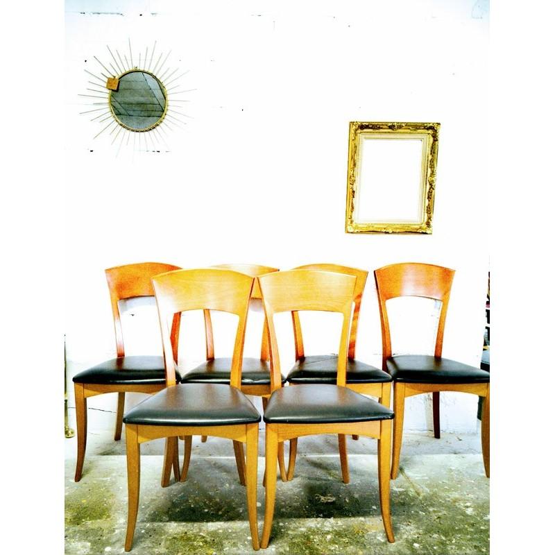 Série de six  de 6 chaises vintage italiennes | Old'Upcycling