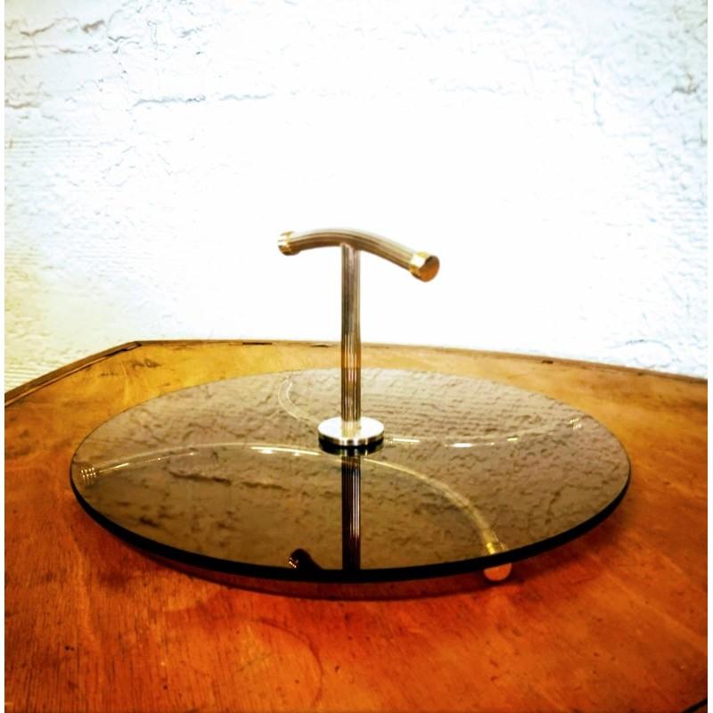 Serviteur à fromage en verre ambré | Old'Upcycling