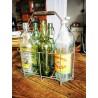 Panier porte bouteilles en fer   Old'Upcycling
