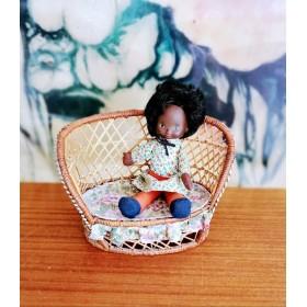 Fauteuil en osier poupée