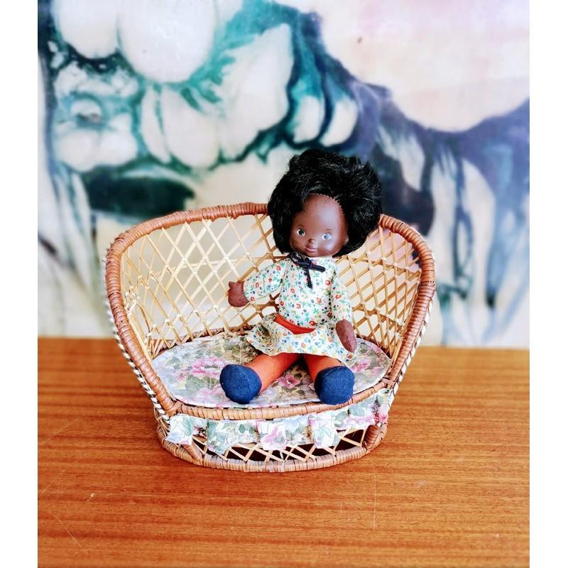 Fauteuil en osier poupée | Old'Upcycling