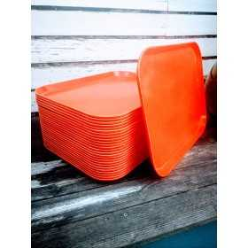 Plateau orange vintage en...