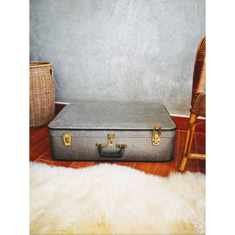 Grande valise grise | Old'Upcycling
