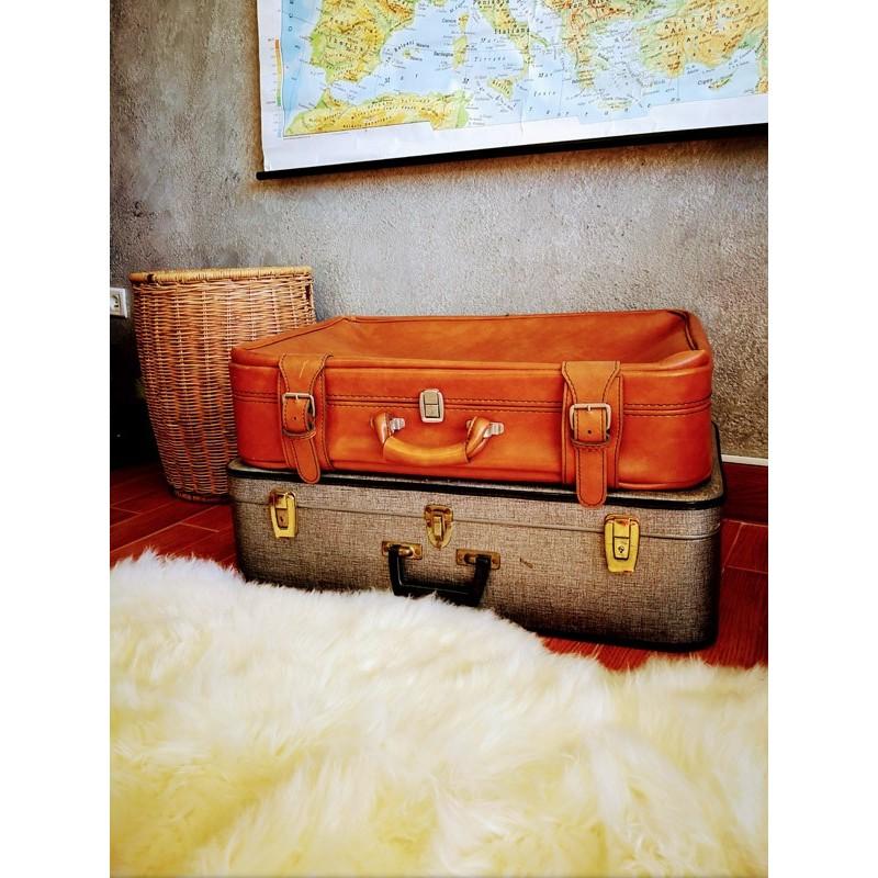 Grand valise souple en skaï | Old'Upcycling