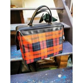 sac vintage motif Tartan