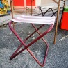 Tabouret pliant en toile | Old'Upcycling