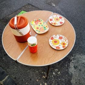 Table de camping ronde