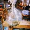 Dame Jeanne transparente en verre | Old'Upcycling