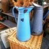 Broc à eau émaillé vintage d'occasion | Old'Upcycling