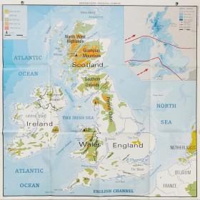 Carte géographique BRITISH...