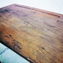 ancienne luge en bois