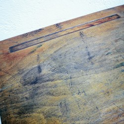 luge ancienne en bois