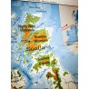 Carte géographique BRITISH ISLES   Old'Upcycling