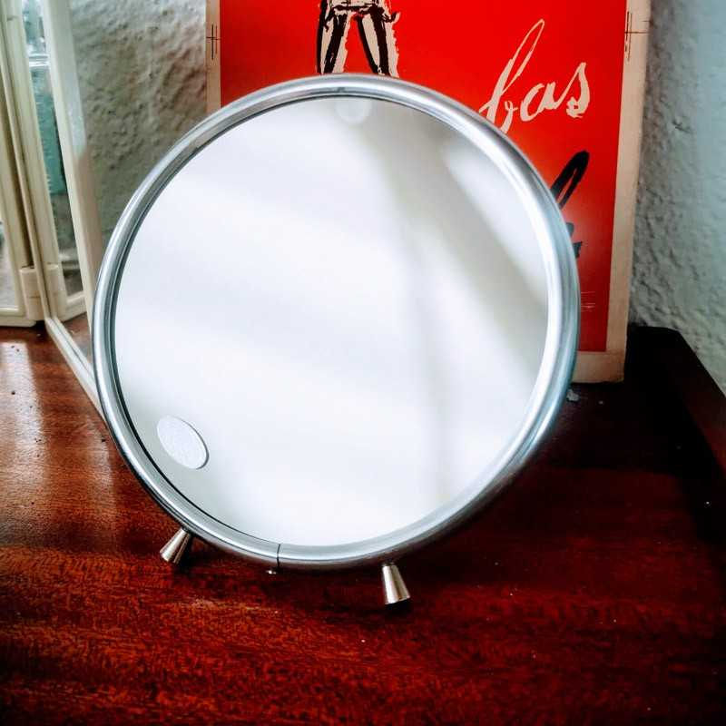 Miroir de barbier rond grossissant | Old'Upcycling
