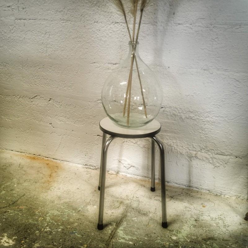 Tabouret rond en formica | Old'Upcycling