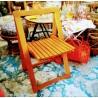 Série de 4 chaises pliantes par Aldo Jacober - années 60 | Old'Upcycling
