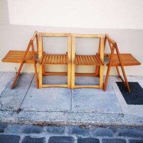 Série de 4 chaises pliantes...