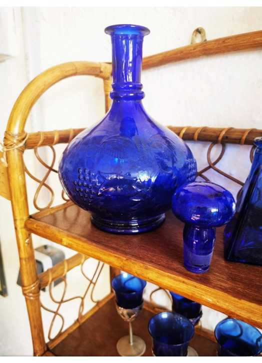 Carafe bleue   Old'Upcycling