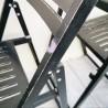 Paire de chaises pliantes en bois | Old'Upcycling