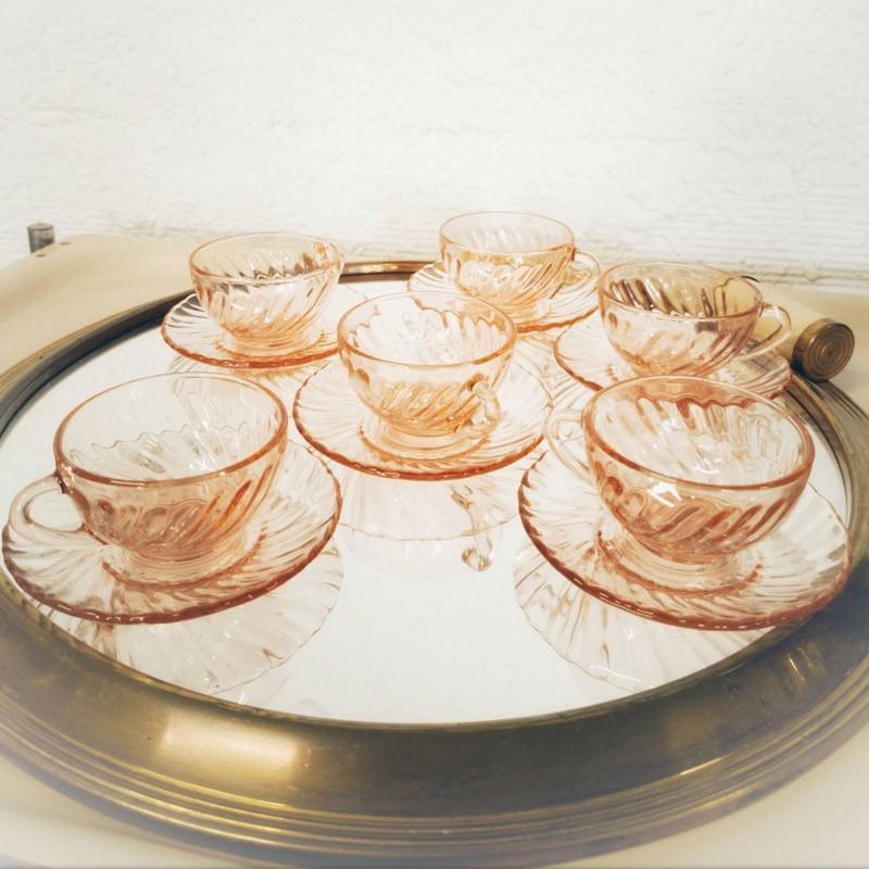 Service à café Rosaline de Arcoroc | Old'Upcycling
