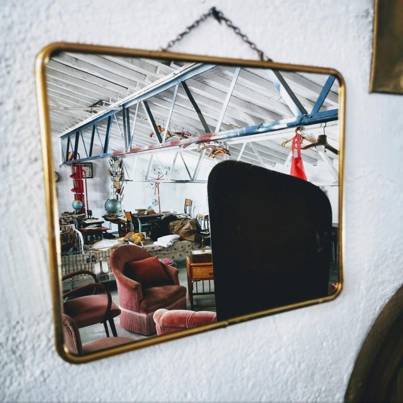 Miroir de barbier doré | Old'Upcycling