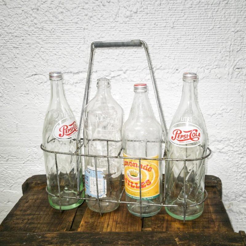 Panier porte bouteilles en fer | Old'Upcycling