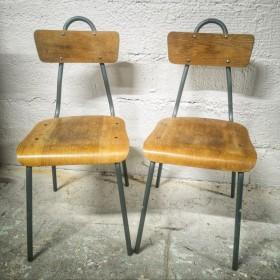 Paire de chaises écolier...
