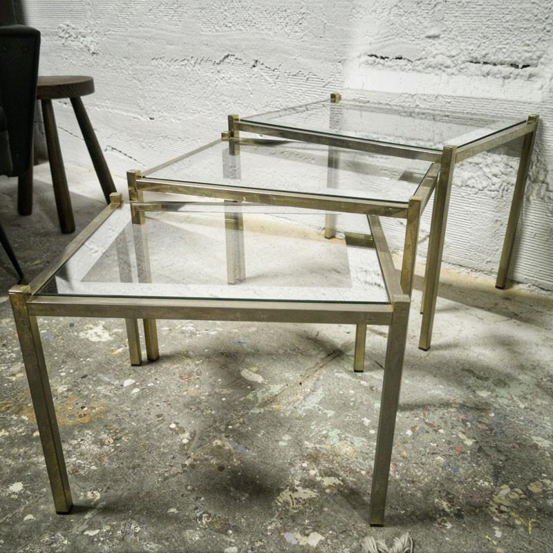 Tables gigognes en métal doré | Old'Upcycling