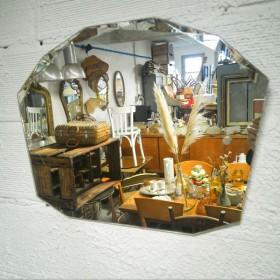 Miroir biseauté art déco 60...