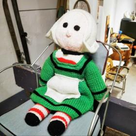 Poupée Bécassine en tricot