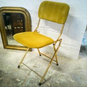 Chaise vintage pliable en...