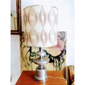 Lampe années 70 en aluminium