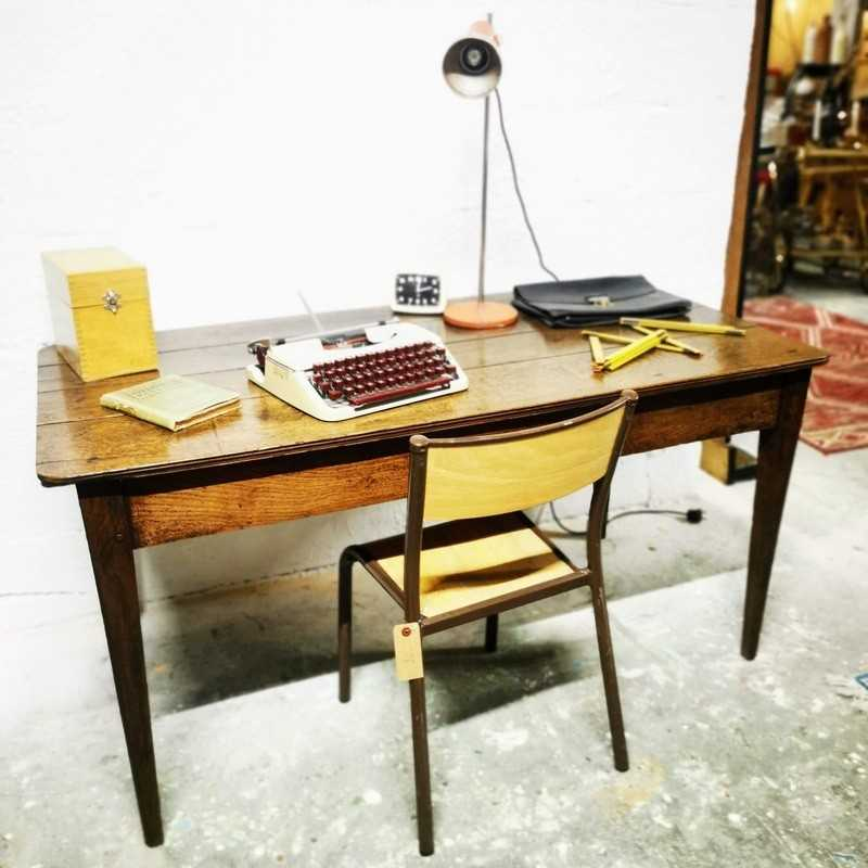 Table bureau de ferme vintage | Old'Upcycling
