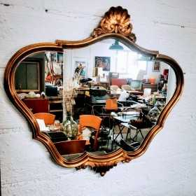 Miroir baroque doré 78x70cm