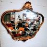 Miroir baroque doré | Old'Upcycling