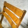 Chaises de jardin vintage pliantes en bois | Old'Upcycling
