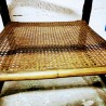 Table d'appoint en rotin et verre fumé | Old'Upcycling
