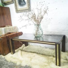 Table basse vintage bois et...