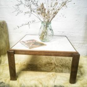 Table basse carrée bois et...